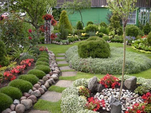 Ландшафтный дизайн садового участка в Одессе