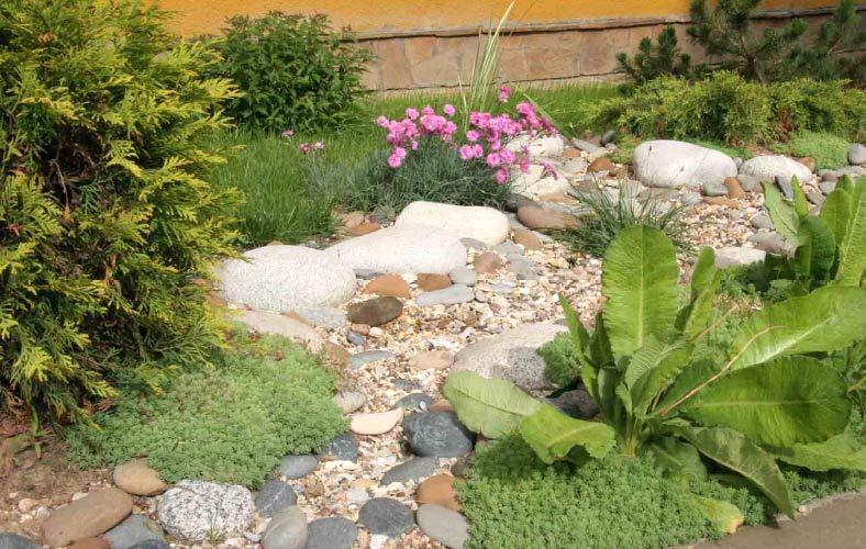 Каменистый ручей на участке в Одессе