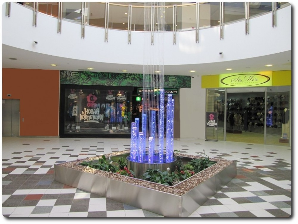 Пузырьковые колонны в дизайне интерьеров