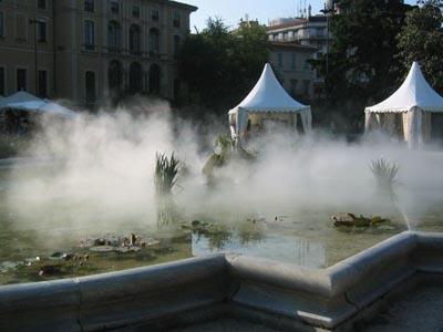 Система туманообразования для открытых пространств