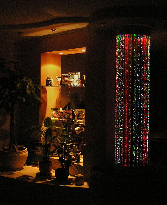 Пузырьковые панели в интерьере помещения