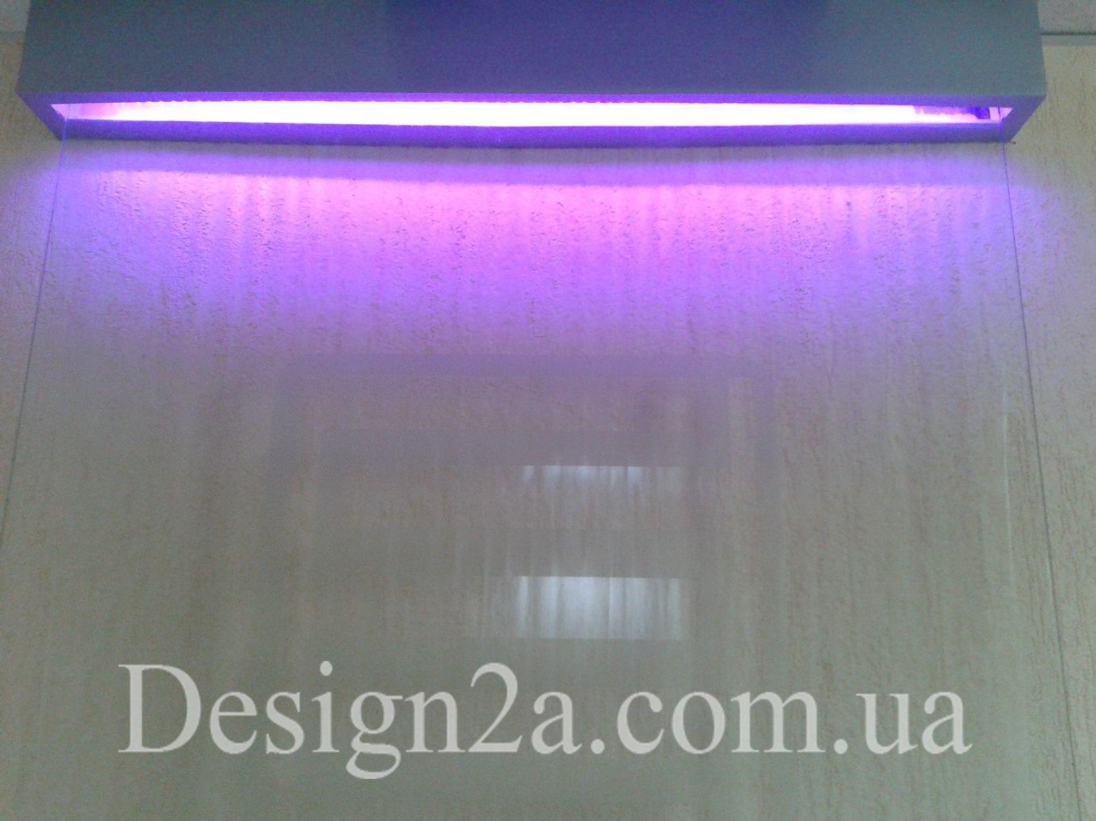 Декоративный водопад по стеклу, плачущая панель