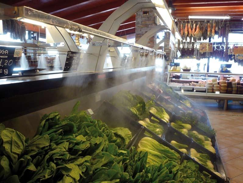 Охлаждение продуктов питания искусственным туманом