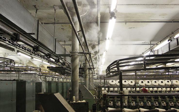 Использование туманообразующих систем в легкой промышленности