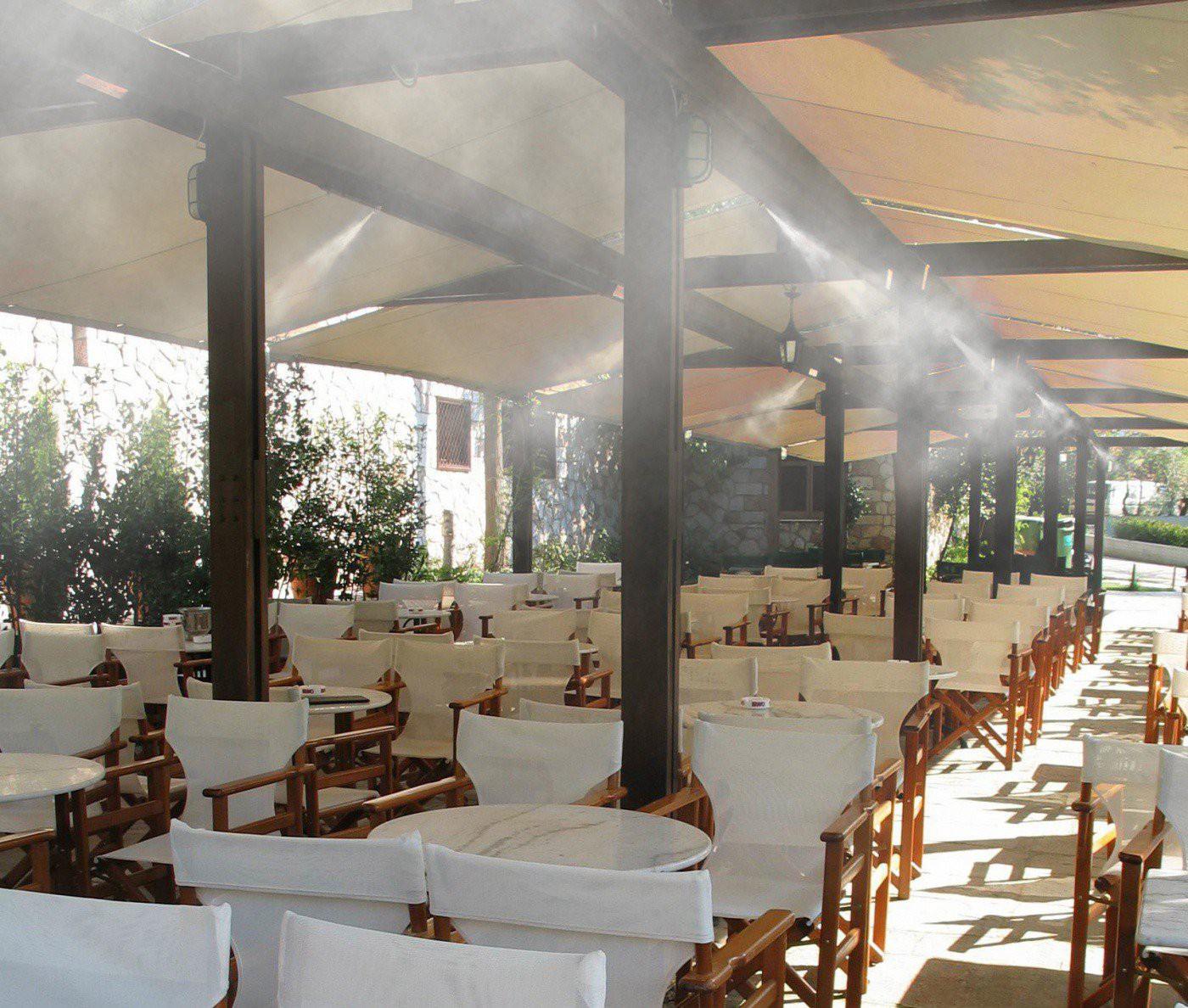 Система туманообразования для летних кафе и ресторанов