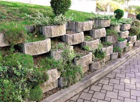 Подпорные стенки в ландшафтном дизайне участков
