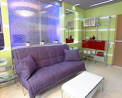 Пузырьковые панели в интерьере помещения в Одессе