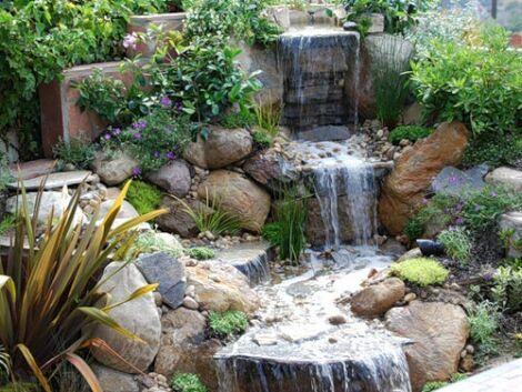 Искусственные водопады на садовых участках в Одессе