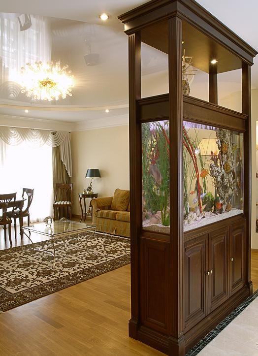 Встроенные аквариумы в интерьере помещений в Одессе