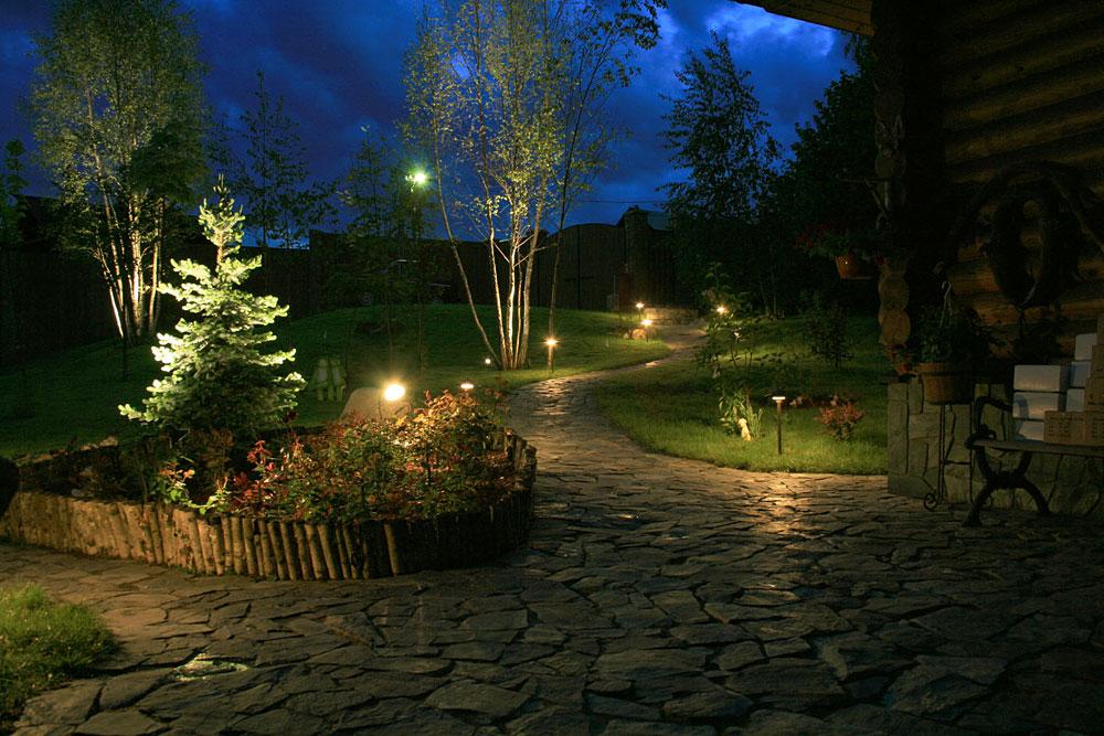 Освещение сада в Одессе