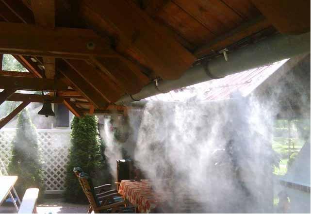 Система туманообразования для садового участка в Одессе