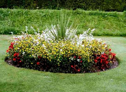 Клумбы и цветники на садовых участках в Одессе