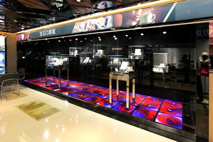 Интерактивный пол для магазинов, ресторанов и баров