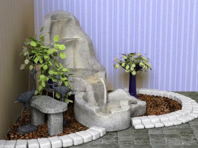 Декоративные фонтаны в интерьере помещений в Одессе