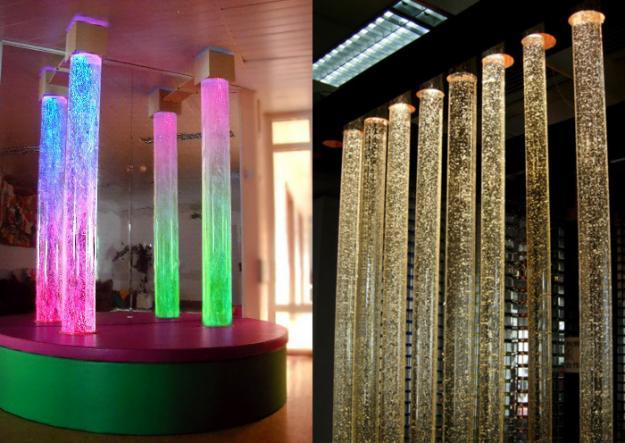 Пузырьковые колонны в дизайне интерьеров в Одессе