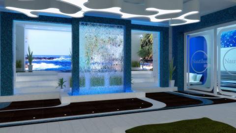 Водопад в дизайне интерьера помещений в Одессе