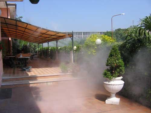 Туман-охлаждение открытых пространств