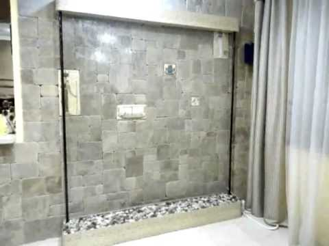 Водопады по стеклу для интерьера