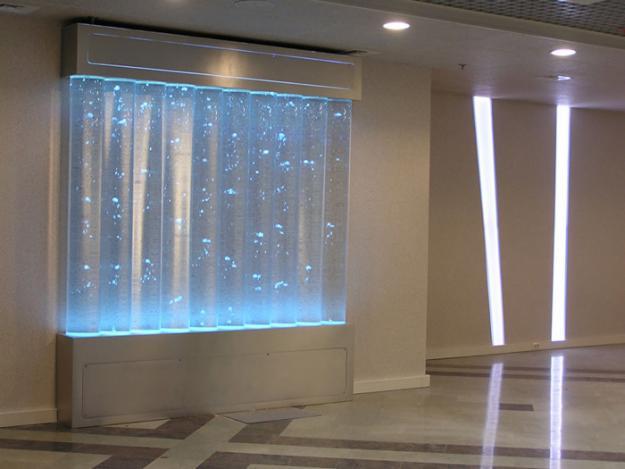 Размещение пузырьковых колонн в помещении