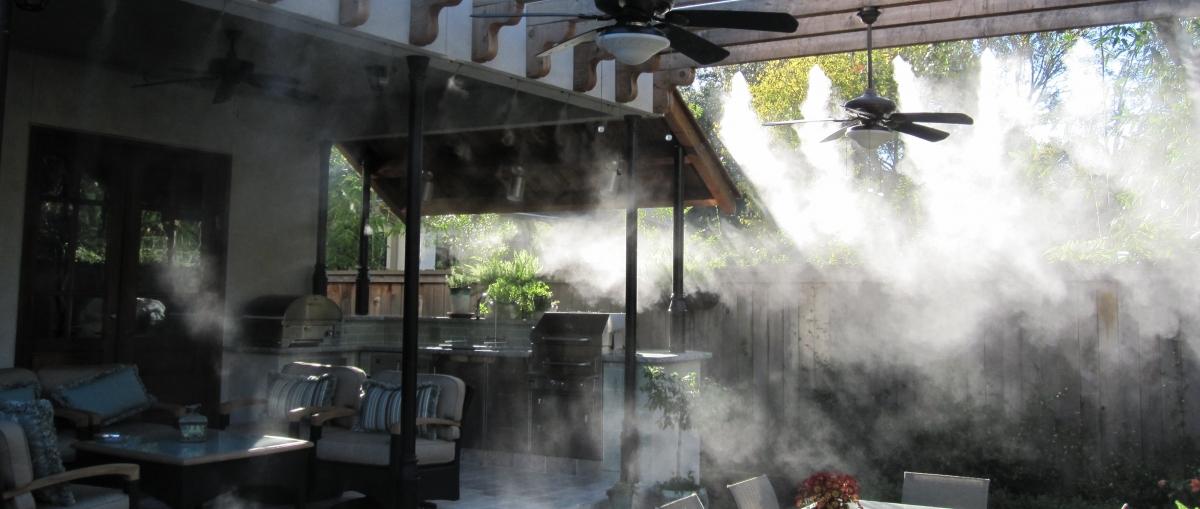 Системы туманного охлаждения для кафе и баров