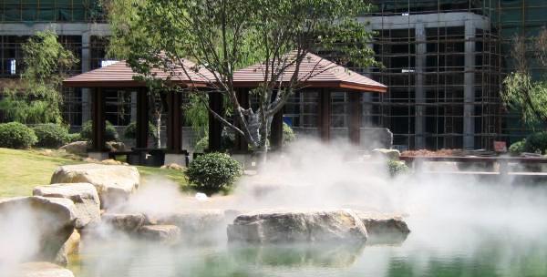 Система туманного охлаждения для открытой площадки