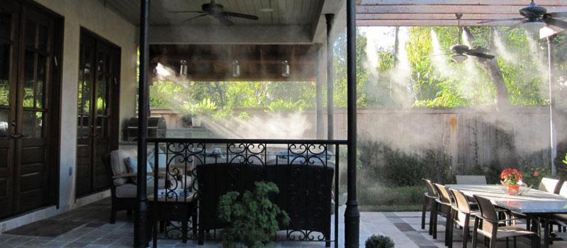 Система туманного охлаждения для кафе, бара, ресторана